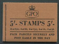 Great Britain - 1955 - 5/- Wilding Booklet - Scott Bk105 - Sg# H17 - Nh