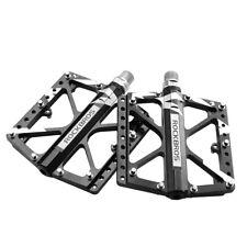 RockBros Cycling Wide Feet MTB BMX Bike 3 Sealed Bearing Pedals Black