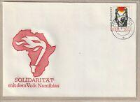 """Ersttagsbrief - """"Solidarität mit dem Volk Namibias"""" mit Marke und Stempel 1981"""