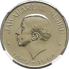 1 RUPEE 1964~JAWAHAR LAL NEHRU ~ 1 RARE COIN OF ~1964~V RARE ~10 gm COIN