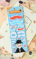 Mustache Stickers cute cartoon planner diary journal scrapbooking kawaii sticker