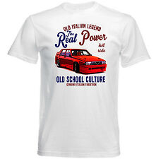 VINTAGE ITALIAN CAR ALFA ROMEO 75 REAL POWER - NEW COTTON T-SHIRT