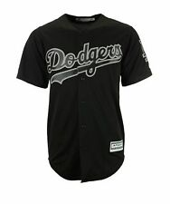 Los Angeles Dodgers Men's Cool Base Custom Black Baseball Jersey