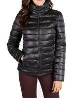 Piumino donna nero slim fit giacca giubbotto invernale imbottito