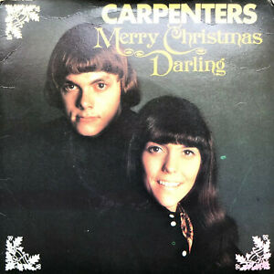 """CARPENTERS MERRY CHRISTMAS DARLING 1971 A&M CARD GATEFOLD 7"""" 3 TRACK EP RECORD"""