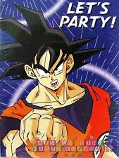DRAGON BALL Z  INVITATIONS (8) ~ Anime Birthday Party Supplies Stationery Cards