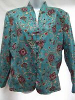 Adrianna Papell Size 12 100/% Silk Asian Inspired Kimono Top
