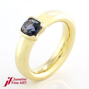 Niessing Ring - 18K/750 Yellow Gold - Blue Gemstone - 13,5 G - Size 56