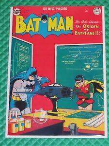 Batman #61 Golden Age DC Origin of Batplane II Robin Penguin Coverless (1950)