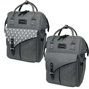 Baby Changing Bag Backpack & Mat Maternity Grey Diaper Nappy Bag Cocuun