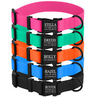 Personalized Dog Collar Waterproof Collars for Dogs Custom Engraved Buckle S M L