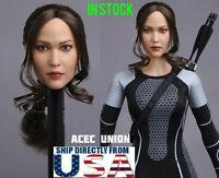 "1/6 European American Female Head Sculpt For 12"" Hot Toys PHICEN Figure USA"