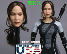 "1/6 European American Female Head Sculpt For 12"" Hot Toys PHICEN Figure USA"