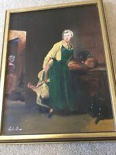 "Vintage Oil Painting Original Acrylics Hand Paintings Leslie Bour . 14x17"" Art"