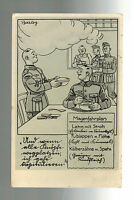 1939 Turingen Germany Postcard Cover to Baden Soldiers in Messhall CArtoon