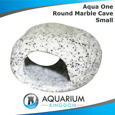 #37057 Aqua One Round Marble Cave Small - Ornament Fish Decoration Cichlid Rock