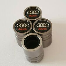 AUDI DUST VALVE CAPS al Cars 13 colours NON STICK LIGHT GREY S LINE S3 S4 S5 A3