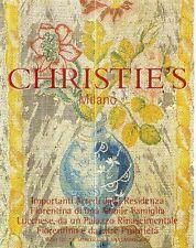S12 Christie's Milano 7-8 Novembre 2000 Importanti Arredi Residenza Fiorentina