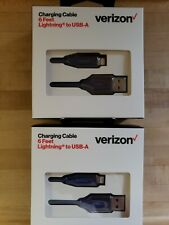 Two 6 Feet Verizon Wireless Usb-A cords