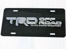 Toyota TRD Off Road 1 Car Tag Diamond Etched on Black Aluminum License Plate