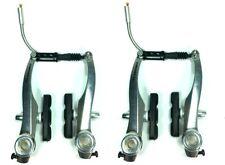 Promax V-Brake Bremse Felgenbremsen Vorne + Hinten Set TX-115 Silber V-Bremsen