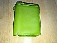 Mywallit lime green zip around wallet