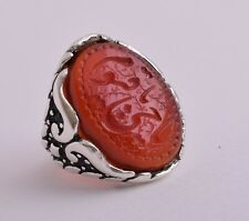 Yemen agate aqeeq aqiq akik Islamic sterling SilverMen Ring-yemeni