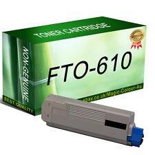 1 Black Toner Cartridge For OKI C610 C610dn C610dtn C610n Printer