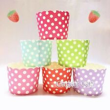 Party : Polka Dot Cupcake Liner Candy Popcorn Cookie Cups Party Needs 20 pcs