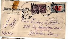 1939 Air Mail Special Delivery cover with Hotel Severin, Indianapolis, Ind corne