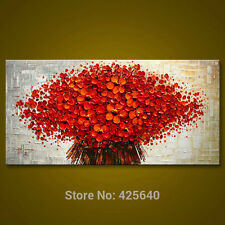 Hand Painted Oil Painting Wall Pictures on canvas: red tree (with framed)