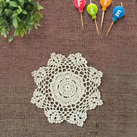 4Pcs/Lot Vintage Hand Crochet Cotton Lace Doilies Flower Doily Table Mats 8inch