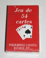 Jeux de 54 Cartes Classiques 9 X 6 cm Rouges NEUF Playing Crads