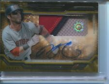 2015 TOPPS STRATA DUSTIN PEDROIA AUTO RELIC CARD ON CARD AUTO RED SOX 6/25