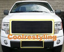 FOR 2009 2010 2011 2012 Ford F-150 BLACK COLOR Billet Grille combo Inserts