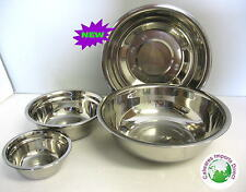 Mixing Bowls  Stainless Steel   large 29cm SET 2 Pieces