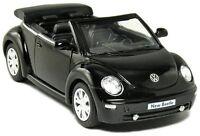"New 5"" Volkswagen New Beetle Convertible 1/32 diecast model toy car vw Black"