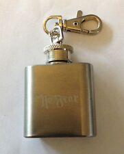 "Genuine Stainless Steel ""No Fear"" Key fob Flask        10 Oz."