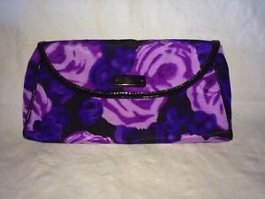 Kate Spade NY Gemma Clutch in Giverny Purple Floral Envelope Clutch W/Dust Bag