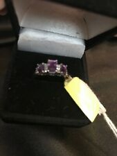 Amethyist Ring, Size 7, 1.35 Ct. , Sterling Silver