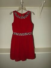 Formal Short Red Rhinestone Dress