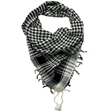 Cotton Desert Scarf / Bandana / Shemagh / Face Covering (Black & White)