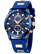 Mens Watches Men Chronograph Waterproof Sports Designer Rose Gold Large Face for