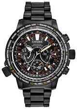 New Citizen SATELLITE Wave Eco-Drive Black Dial Men's Titanium Watch CC7015-55E