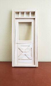 Dollhouse Miniature Exterior Door Crossbuck Dutch Door 1:12 Scale HW #6009