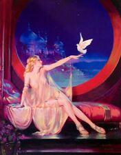 CLIVE 20x26 Canvas HAREM Belly Dancer Harem Art Deco Pinup EGYPTIAN Eggleston