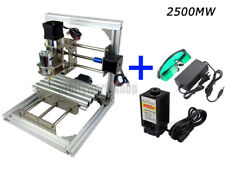 DIY PCB Wood Acrylic CNC Mini Milling Engraver 3 Axis  Carve+500mW Laser Module