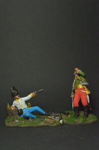 Tin soldier figure General Lasalle and the Hungarian Grenadier 54 mm