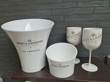 More details for 💋moet & chandon champagne  ice imperial bucket , ice cube holder & 2 goblets 💋