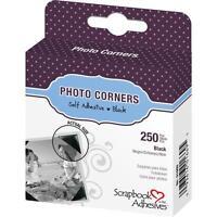 "3L Scrapbook Adhesives Photo Mounting Corners Black  3/8"" or 10mm 250/box"